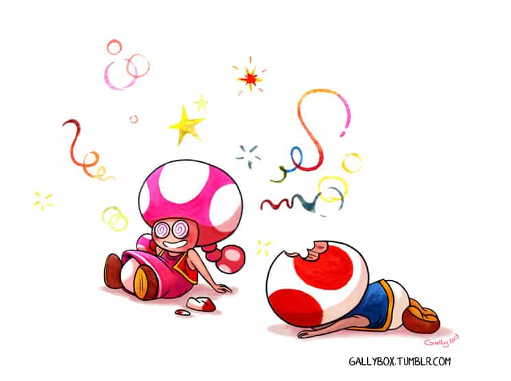 Fan art Toad et Toadette - Gally